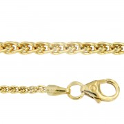 Palmier collier hol 45 cm 3 mm geelgoud